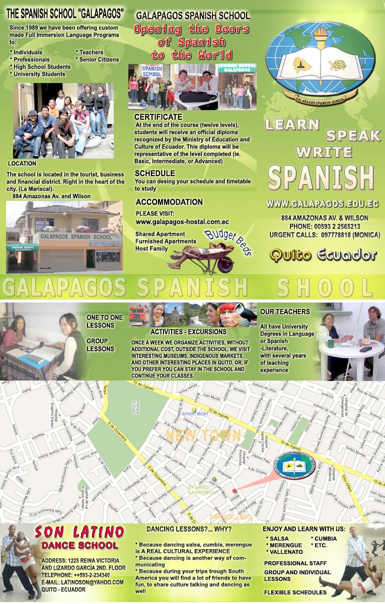 spanish coursework describe your school